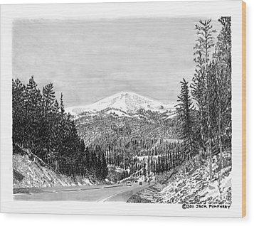 Apache Summit Siera Blanco Wood Print by Jack Pumphrey