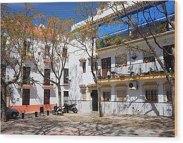 Apartment Houses In Marbella Wood Print by Artur Bogacki