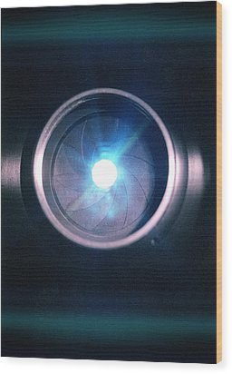 Aperture Flare Wood Print by Richard Kail