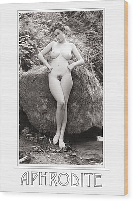 Aphrodite Wood Print by Ellis Christopher