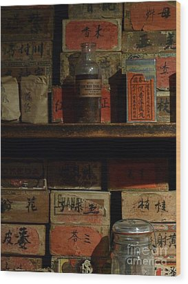 Wood Print featuring the photograph Apothecary by Newel Hunter
