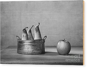 Apple And Pears 02 Wood Print by Nailia Schwarz