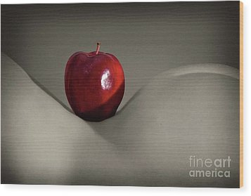 Apple Bottom Wood Print