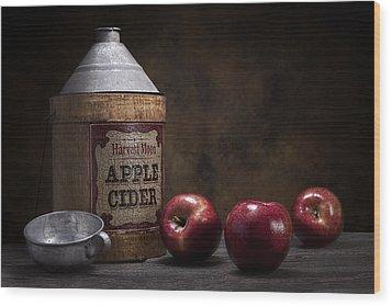 Apple Cider Still Life Wood Print by Tom Mc Nemar