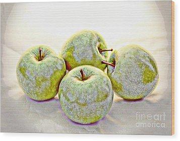 Apple Dust Wood Print by David Taylor