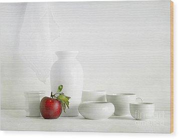Apple Wood Print by Matild Balogh