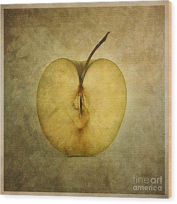Apple Textured Wood Print by Bernard Jaubert