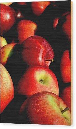 Apple Time Wood Print by Joann Vitali