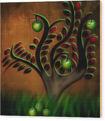 Apple Tree Wood Print