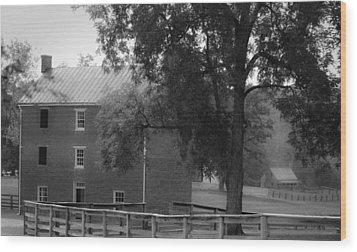 Appomatttox County Jail Virginia Wood Print by Teresa Mucha