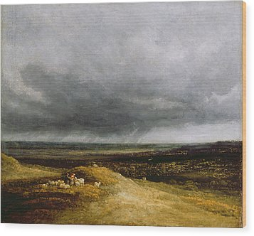 Approaching Storm Wood Print by Georges Michael
