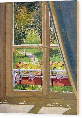 April Morning Wood Print by Roelof Rossouw