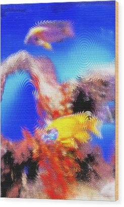 Aquarium Art 8 Wood Print by Steve Ohlsen