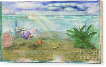 Aquarium Wood Print by MURUMURU By FP