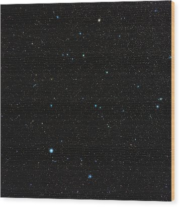 Aquarius Constellation Wood Print by Eckhard Slawik