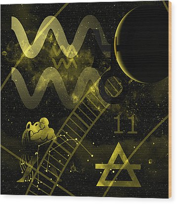 Aquarius Wood Print by JP Rhea