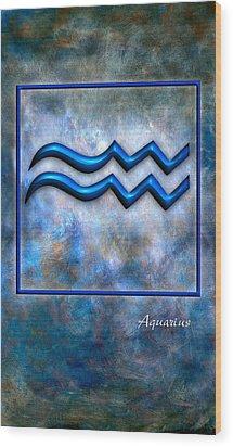 Aquarius  Wood Print by Mauro Celotti