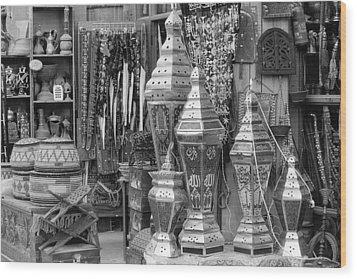 Arab Bazaar Wood Print by Paul Cowan