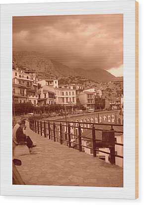 Arachova Greece Wood Print