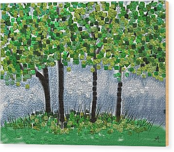 Arborline Wood Print by Anita Duhon