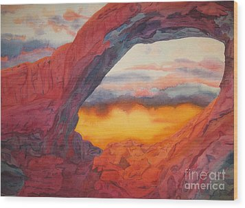 Arch Element Too Wood Print by Vikki Wicks