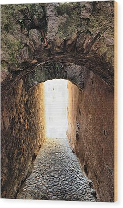 Arch In The Alley Wood Print by Ettore Zani