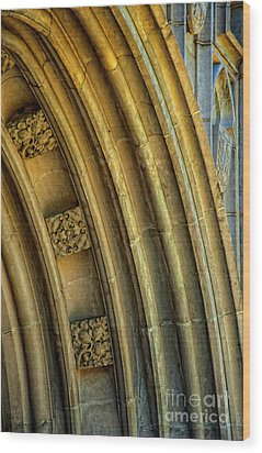 Arch Wood Print by Kathleen K Parker