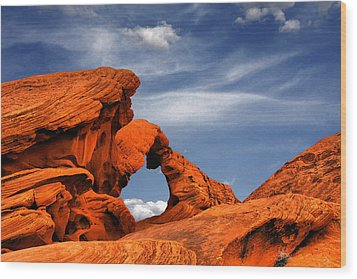 Arch Rock - Amazing Show Of Nature Wood Print by Christine Till