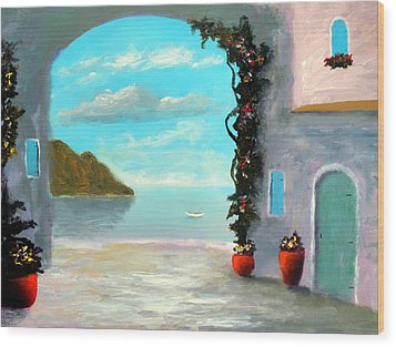 Arch To The Sea Wood Print by Larry Cirigliano
