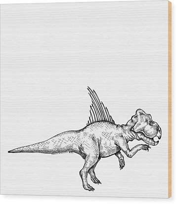 Archaeoceratops - Dinosaur Wood Print by Karl Addison