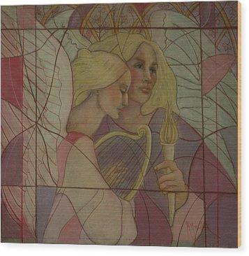 Archangel And Faith Wood Print