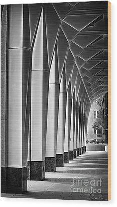Arched Passageway Wood Print by Danuta Bennett