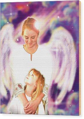 Archer. Angelic 4 Wood Print by Nada Meeks