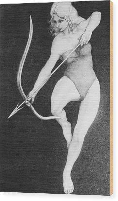 Archer Wood Print by Louis Gleason