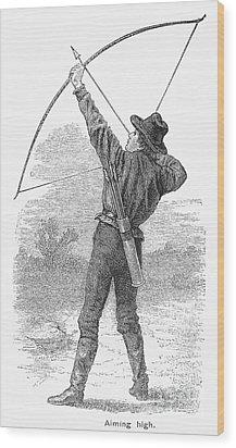 Archery, C1880s Wood Print by Granger