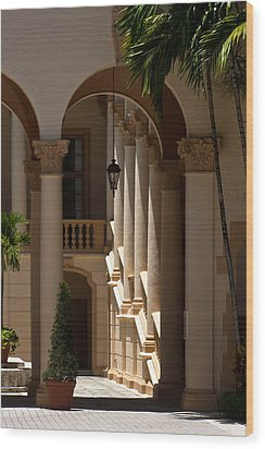 Wood Print featuring the photograph Arches And Columns At The Biltmore Hotel by Ed Gleichman