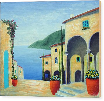 Arches On The Riviera Wood Print by Larry Cirigliano