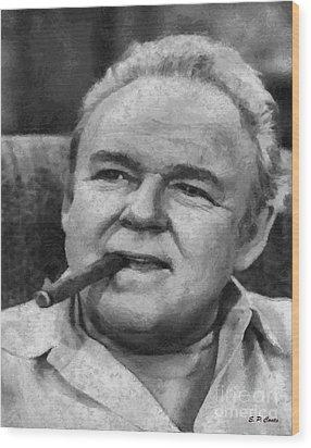 Archie Bunker Wood Print by Elizabeth Coats