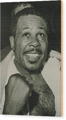 Archie Moore 1916-1998 Held The World Wood Print by Everett