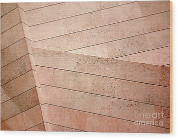 Architecture Lines Wood Print by Carlos Caetano