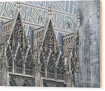 Architecture Of Vienna Wood Print by Evgeny Pisarev