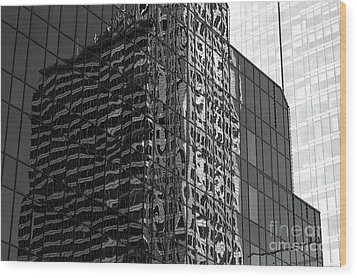 Architecture Reflections Wood Print
