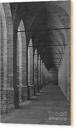 Archs At Lagenzia Pollenzo Wood Print by Malu Couttolenc
