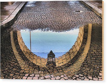 Archway Reflections Wood Print by Steven Ainsworth