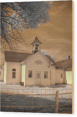 Arcola Illinois School Wood Print by Jane Linders