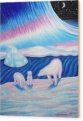 Arctic Nights Wood Print
