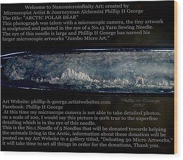 Arctic Polar Bear Debuting Photo Wood Print by Phillip H George