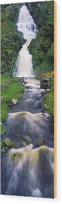 Ardara, Co Donegal, Ireland Waterfall Wood Print by The Irish Image Collection