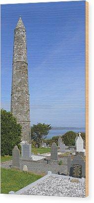 Ardmore Round Tower - Ireland Wood Print by Mike McGlothlen