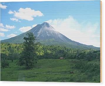 Wood Print featuring the photograph Arenal by Eric Tressler